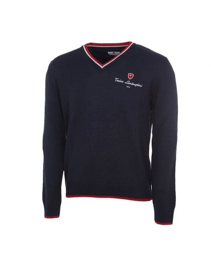 KNIT SWEATER WITH ELBOW PATCHES Tonino Lamborghini