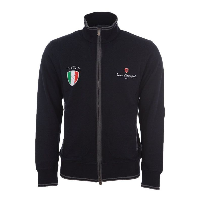 JERSEY DOUBLE FACE BLACK /& REVERSE SIDE NAVY PURE COTTON MADE IN ITALY